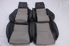 Custom Made 84-88 C4 Corvette Real Leather Seat Covers for Standard Seats 2 Tone