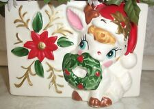Vintage NAPCO Rudolph The Red Nosed Reindeer Christmas Planter Napcoware Japan