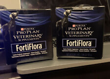 Purina FORTIFLORA - SET of (2) 30 ct Sachet Dog Probiotic Supplement EX 07/2021