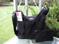 Baggallini Travel Hobo Crossbody Bag Purse With RFID Wrislet FREE SHIPPING