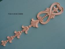 Decorative wooden drop onlay applique furniture mouldings CC64