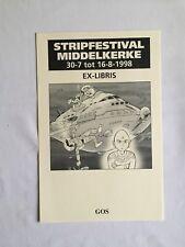 GOS EX LIBRIS SCRAMEUSTACHE - STRIPFESTIVAL MIDDELKERKE 30-7 tot 16-8-1998