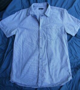 SPORTSCRAFT SHIRT SIZE L FINE BLUE/WHITE CHECK LIGHTWEIGHT LOVELY BUTTONS