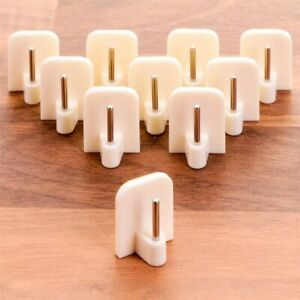 10 Pack Self Adhesive Curtain Rod Hook End White Window Net Holder UPVC Support
