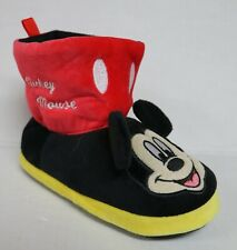 DISNEY MICKEY MOUSE BOY'S SIZE 11-12 MICKEY MOUSE SLIPPERS SHOES NEW