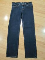 Size 27 Levi's 712 Slim Fit Womens Jeans Dark Wash Stretch Denim Pants 28 x 27.5