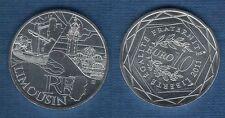 10 Euro Série des Régions 2011 Monuments Argent SUP - Limousin