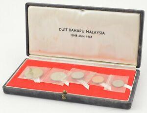 1967 Malaysia 5 Coin Decimal Coinage Set - With Display Box *833