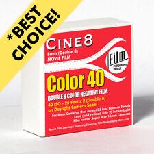 Regular 8mm / Double 8 Movie Film - FPP CINE8 COLOR NEGATIVE 40 ISO (25 FT)