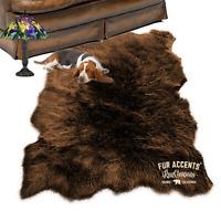 Faux Fur Area Rug , Sheepskin Shape, Plush Shag, All Sizes, Colors, Made in USA