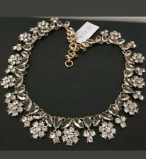 NWT  J.Crew AUTHENTIC Forget-Me-Not Crystal Necklace Item G6274.