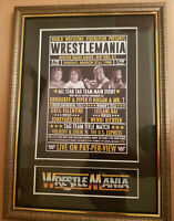 WWF Wrestlemania 1 Framed Retro Memorabilia Hulk Hogan V Roddy Piper Wrestling