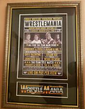 Wwf Wrestlemania 1 Framed Retro Memorabilia Hulk Hogan V Roddy Piper Wrestling