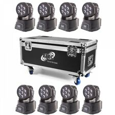 ETEC LED Moving Head 7E Washer 7x10W RGBW 4in1 Set mit Flightcase 8in1 Tourpack
