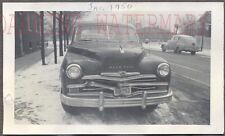 Vintage Car Photo 1949 Plymouth Automobile in Winter Snow 736442