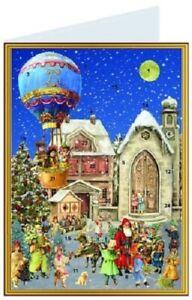 Antique Style Advent Calendar Santa Claus Father Christmas Greeting Card