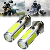 2x White 5 COB LED Car Motor Bike/ATV Headlight Bulb 12V Fog Light H6 P15D