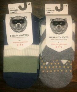 Pair Of Thieves Men's Cushioned Ankle Socks 4 Pairs NEW Size 8-12.