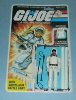 1983 GI Joe Arctic Trooper Snow Job v1 Figure w/ Full File Card Back *Complete
