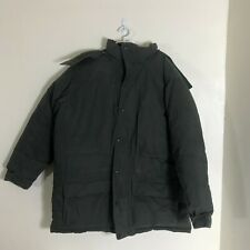 Mens LL Bean Goose Down Thick Heavy Parka Jacket Size XL