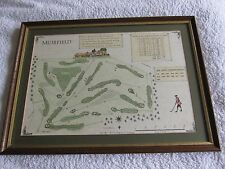 New listing SALE - Muirfield - The Old Course Scotland Alba Cartographics Framed Map Print