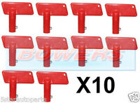 10x RED BATTERY CUT OFF KILL ISOLATOR SWITCH SPARE KEYS CAR BOAT RALLY MARINE