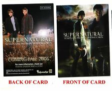 SUPERNATURAL Season #1 (SN-SD2006) San Diego Comic-Con Exclusive Promo Card