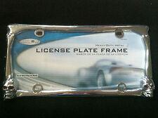 CHROME SKULL LICENSE PLATE FRAME UNIVERSAL for FRONT or REAR PLATE