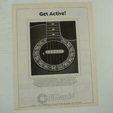 retro magazine advert 1984 DiMARZIO ACTIVE ACOUSTIC