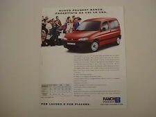 advertising Pubblicità 1997 PEUGEOT RANCH