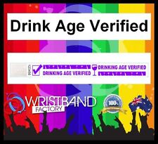 100 x Tyvek Drink Age Verified Party Function Event Disco Security Wristbands