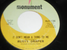 RUSTY DRAPER Two Little Boys 45 It Don't Mean A Thing To Me Mn45-1188 Monument