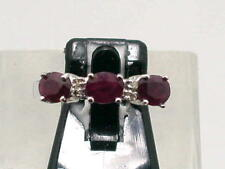 1,20ct. RUBIN BRILLANT BAND RING IN 750 WEISSGOLD GR.55 LUXUS PUR TOP X401 *