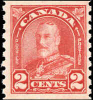 Mint Canada 1931 2c F+ Scott #181 King George Arch-Leaf Stamp Never Hinged
