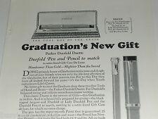1924 Parker Pen advertisement, Duofold Duette, Pen Pencil set, Gift case