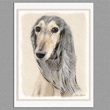 6 Saluki Dog Fawn Blank Art Note Greeting Cards