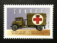 """Canada #1527a MNH, Historic Land Vehicles """"2"""" Ford Military Ambulance Stamp 1994"""
