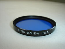 TIFFEN 55mm 80A ( blue color ) filter only U.S.A