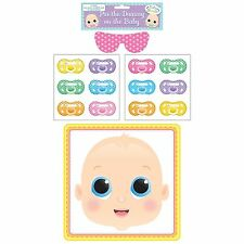 Henbrandt Baby Shower Party Game Pin The Dummy Pacifier On The Baby(X51288)