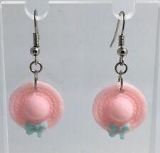 Pink  Blue Pastel Earrings Kitch Hooks Silver Pl A084 Kitsch Kawaii Cute