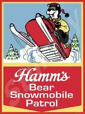"Hamms snowmobile Metal Sign 9"" x 12"""