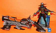 STAR WARS CLONE WARS CAD BANE & SPEEDER BIKE LOOSE COMPLETE