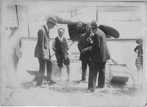 1914 Early Aviation TOM SOPWITH WINNER Schneider Cup biplane photo WOODHOUSE