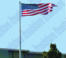 Telescoping 25 Foot Flagpole Kit Aluminum Telescopic Outdoor American Flag Pole