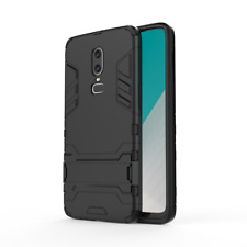 For OnePlus 6 5T 5 3T 360° Shockproof Hybrid Armor Stand Rubber Back Case Cover