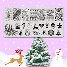 Christmas Nail Stamping Template New Year Manicure Xmas Nail Art Stamping Plate