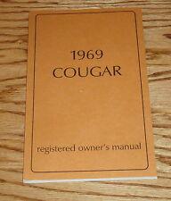 1969 Mercury Cougar Owners Operators Manual 69