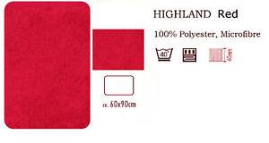 Highland Red Bathroom Rug Bath Mat 23 5/8x35 3/8in Supersoft - Cozy Soft