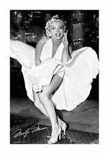 Quadro su pannello in legno MDF Marilyn Monroe New York Dress Misura 60x90 CM