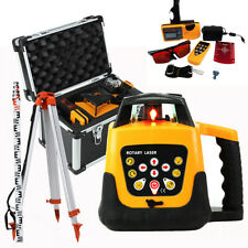 500m Automatic Self Leveling Red Laser Level 360 Rotating Rotary Tripod Staff